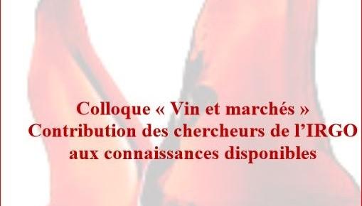 """colloque """"vin et marchés"""" le 3 mars 2016."""